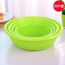 大号洗菜篮水果蔬菜盆滴水筛碗碟虑水沥水盆厨房双层塑料沥水篮