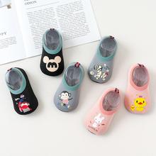 地板袜宝宝防滑底儿童地板鞋袜套厚底学步婴儿袜子春夏季软底薄款