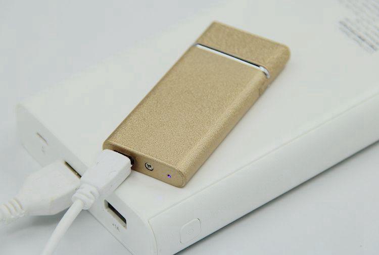 充电打火机电子点烟器USB打火机定制双面超薄男女士生日礼品