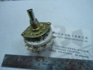 KCZ 2X11双层两路11档波段开关 旋转 扭动 仿陶瓷 大功率音频转换