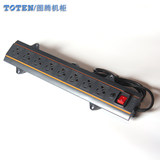 TOTEN totem comes standard with 8-bit PDU input and output 10A vertical standard cabinet power drain