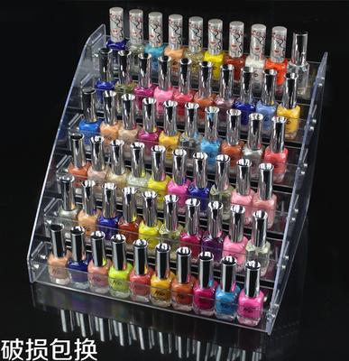 指甲油展示架子 纯塑料带洞透明面膜陈列美甲店展架 化妆品格子铺