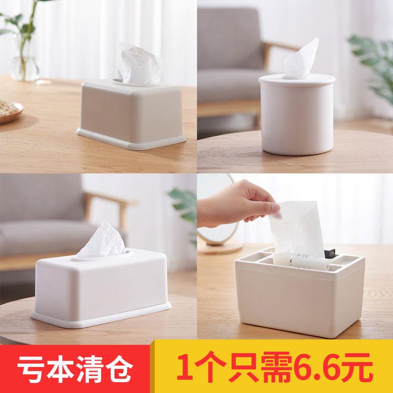创意欧式家用客厅简约纸巾盒抽纸盒面纸餐巾纸茶几桌面北欧收纳盒