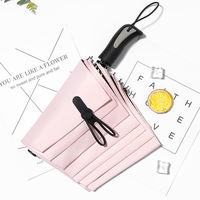 Umbrella female folding Korea small fresh rain dual-use sunshade sun protection UV goddess small ins sun umbrella