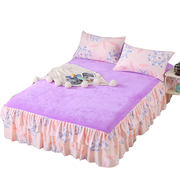 Thick flannel bed skirt bed cover bed cover single piece Simmons dust protection cover 1.5 m 1.8 bed single bed 笠