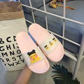 女夏韩国ulzzang可爱卡通玻尿酸鸭拖鞋 粉色室内防滑一字凉拖 拖鞋