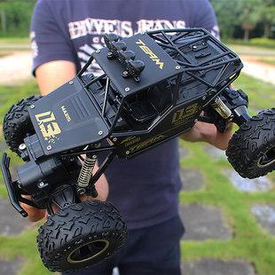 超大合金越野四驱车充电动遥控汽车男孩高速大脚攀爬赛车儿童玩具