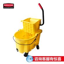 美国乐柏美rubbermaid拖把压水桶榨水车小型微型柞水车FG74800