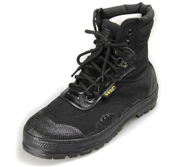 3537作训鞋黑色高帮解放鞋军鞋男跑步鞋训练鞋耐磨劳动胶鞋帆布鞋
