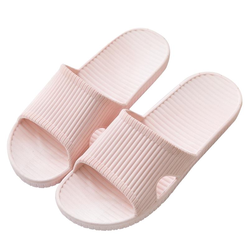 [买一送一]夏季室内家用情侣浴室防滑居家拖鞋女塑料凉拖鞋男夏天