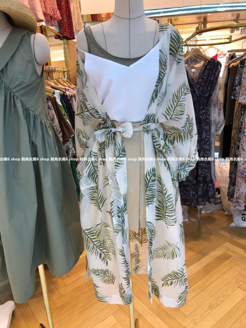 韩国东大门女装代购 2018年夏季新款La mar花色时尚薄款防晒开衫