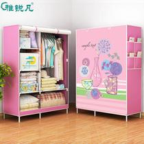 简易衣柜布艺钢架加粗加固布衣柜简约现代经济型组装衣橱收纳柜子