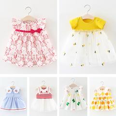 童装女宝宝夏装连衣裙夏季女童婴儿短袖公主裙子2岁3儿童洋气纱裙