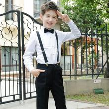 儿童礼服套装主持人小花童背带裤男童表演钢琴男孩大合唱演出服装