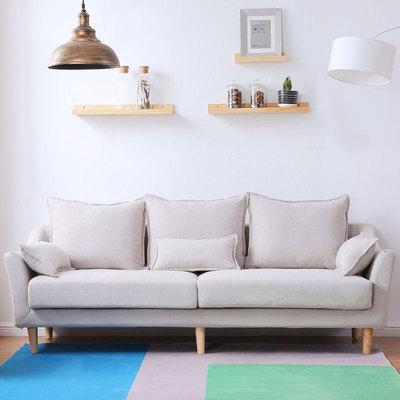 小户型客厅家具沙发木简约现代