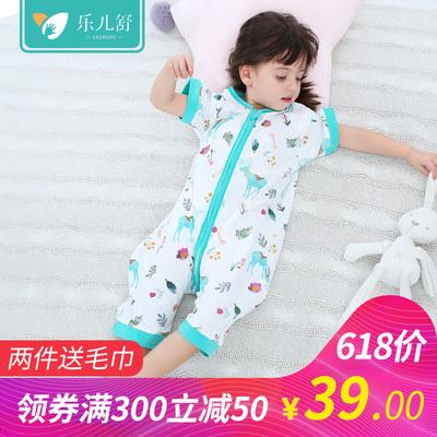 宝宝睡袋婴儿春夏薄款纯棉四季纱布分腿睡袋儿童新生儿防踢被夏季