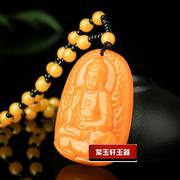 Natural Huanglongyu Amitabha Pendant This life Buddha Zodiac is a dog patron saint mascot is a dog
