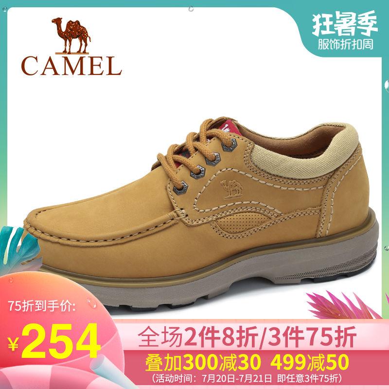 Camel/骆驼男士牛皮马丁鞋潮低帮工装鞋时尚户外休闲百搭男鞋子