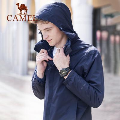 骆驼户外冲锋衣男女潮牌两件套情侣款外套加绒加厚三合一登山服装