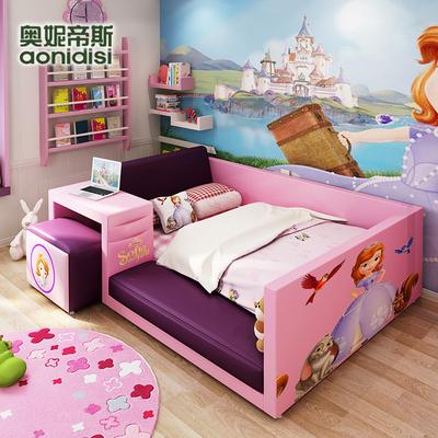 卡通粉色儿童床