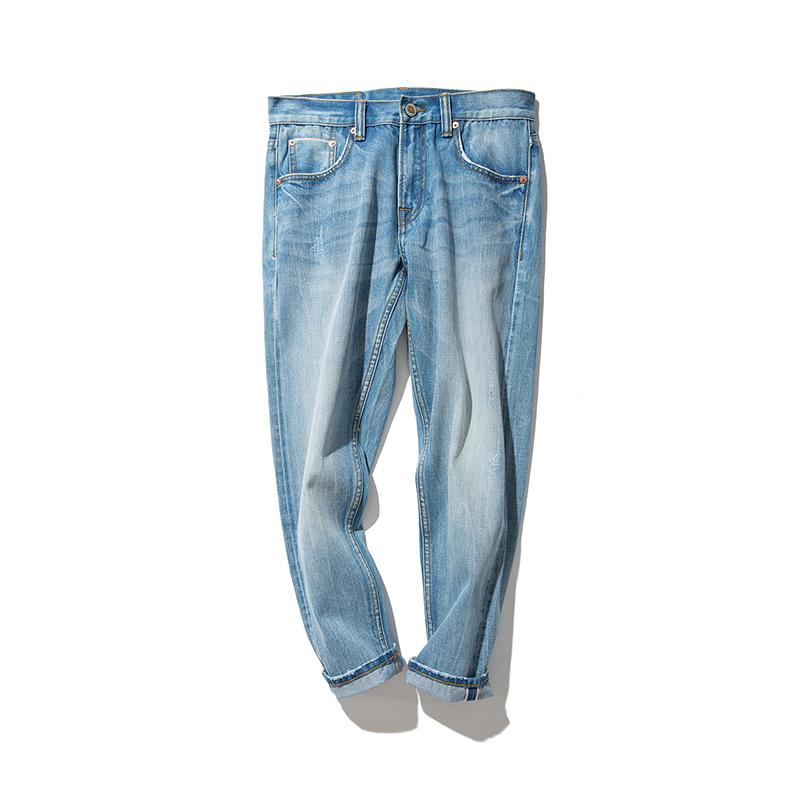 赤耳丹宁裤