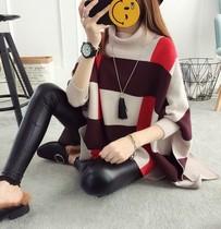 新款大码套头毛衣女韩版秋冬季宽松百搭斗篷女式针织衫外套女33
