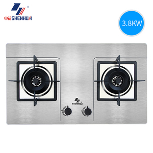 申花 601XB3-1不锈钢燃气灶家用煤气灶嵌入式双灶台式液化气灶具