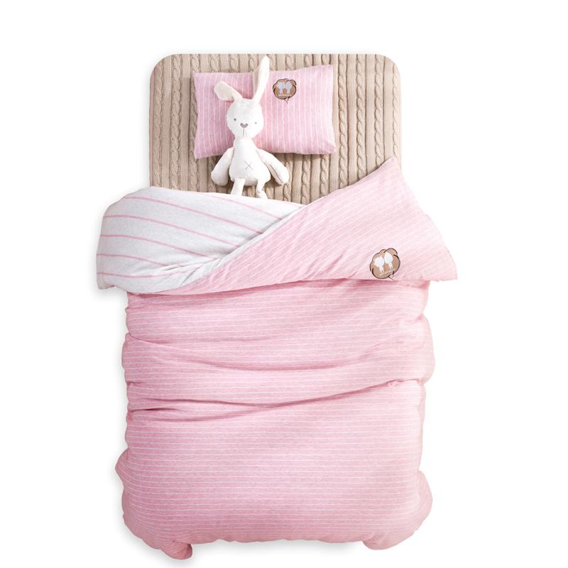 海娜森针织婴童床品套件婴儿床单被套透气宝宝用品儿童床上用品5元优惠券