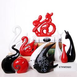 简约现代家居装饰品创意客厅酒柜电视柜摆件个性陶瓷小工艺品摆设