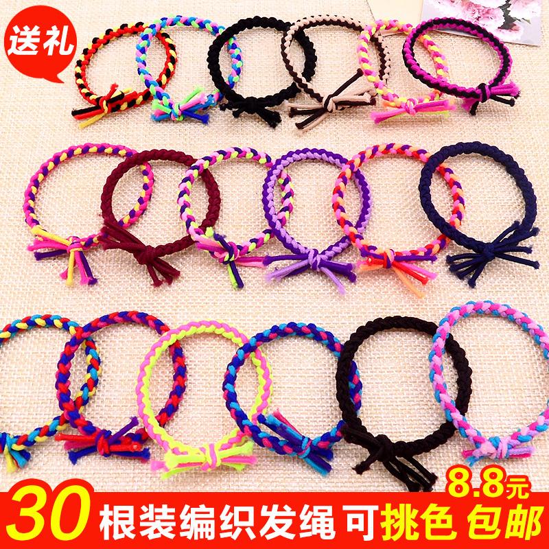 彩色编发绳编织发圈