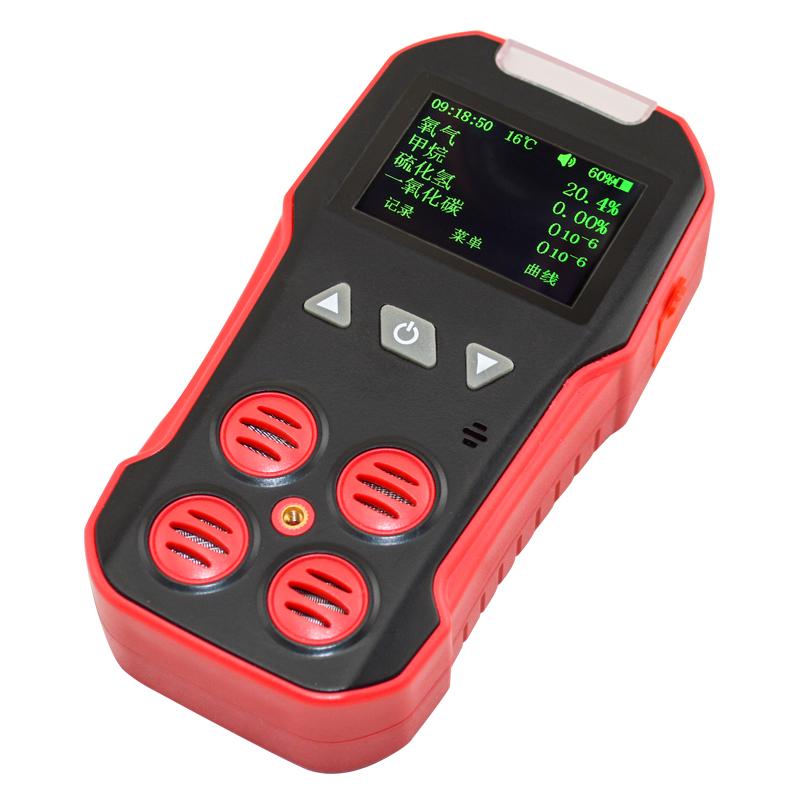 保时安CD4矿用四合一气体检测仪便携CO氧气硫化氢可燃气体探测器