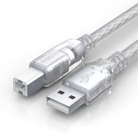 Yamazawa usb printer data cable gold-plated HP Canon Epson universal computer cable lengthened 3 meters