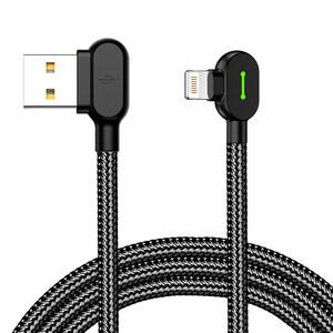 麦多多苹果XS数据线iPhone充电线器6s游戏5手机8plus六7快冲X七双弯头八快充正品iPad冲电线2米加长ios通用