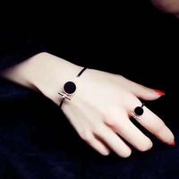 18k玫瑰金戒指女日韩版