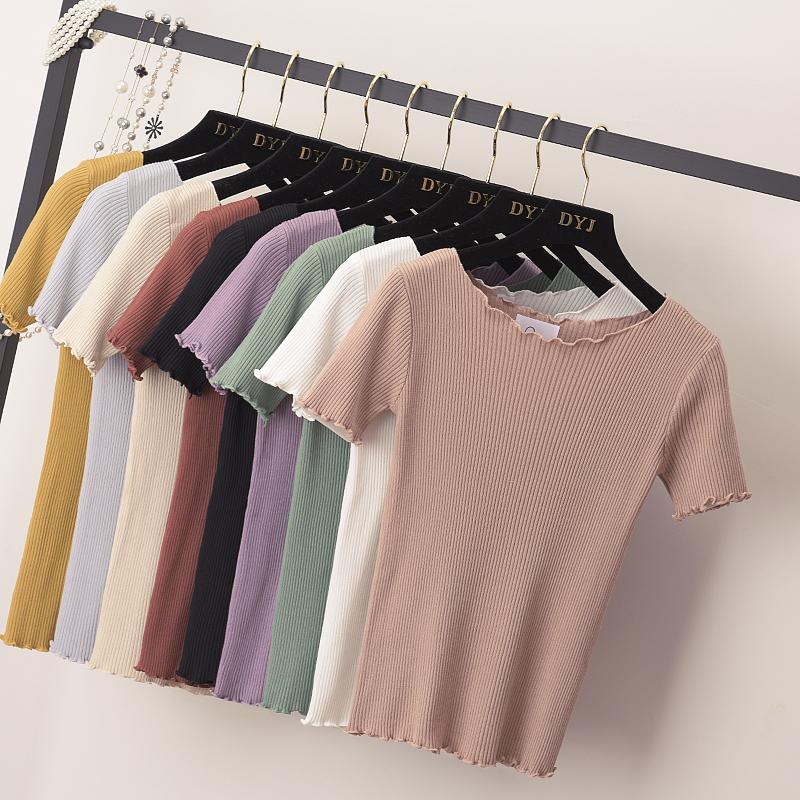 女式低圆领线衫