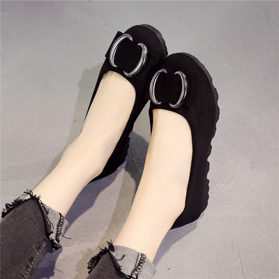 春夏新款老北京布鞋女鞋单鞋浅口圆头一脚蹬豆豆鞋妈妈鞋孕妇平底