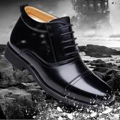 棉鞋 冬季男士 高帮棉皮鞋 真皮羊毛加绒加厚保暖三接头军靴商务正装