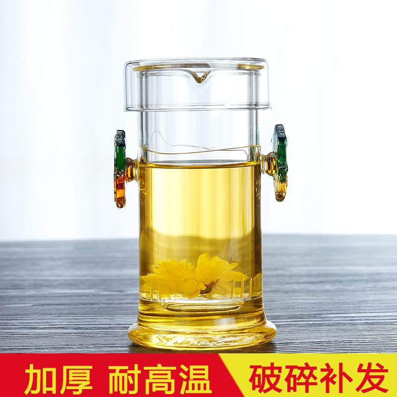 龙把茶壶 过滤 玻璃