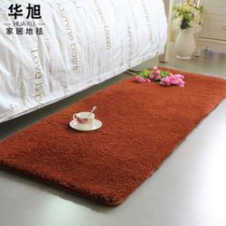 华旭 加厚满铺房间地垫卧室床边毯长条脚垫定制飘窗垫榻榻米垫子