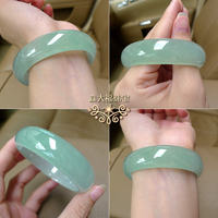 Mori Dai Fuk ice light green jade bracelet with certificate female models natural authentic emerald color princess jade bracelet