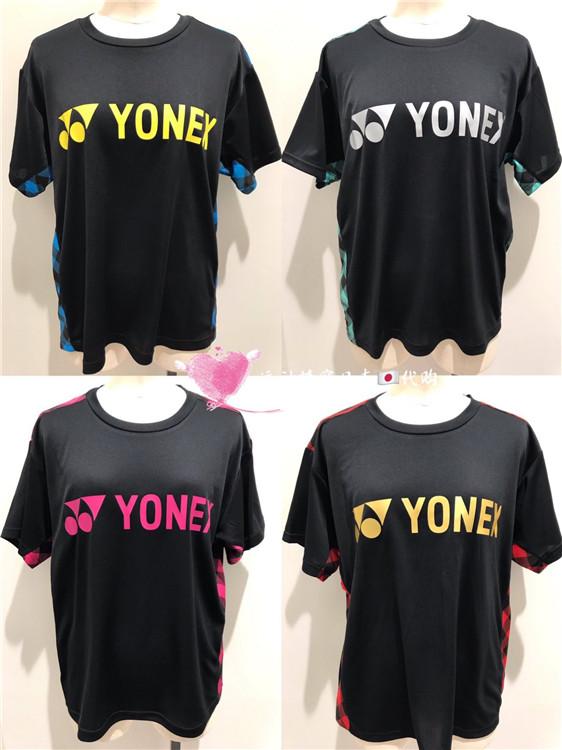 日本19款JP版YONEX尤尼克斯男女款YY羽毛球服短袖文化衫限量19124