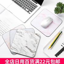 清新简约超大加厚加密锁边鼠标垫卡通防水防滑键盘垫家用办公桌垫