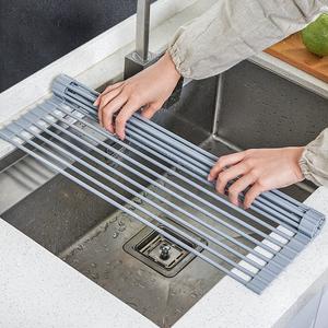 沥水架水槽碗架可折叠洗碗池放碗筷碗碟收纳架子厨房置物架沥水篮