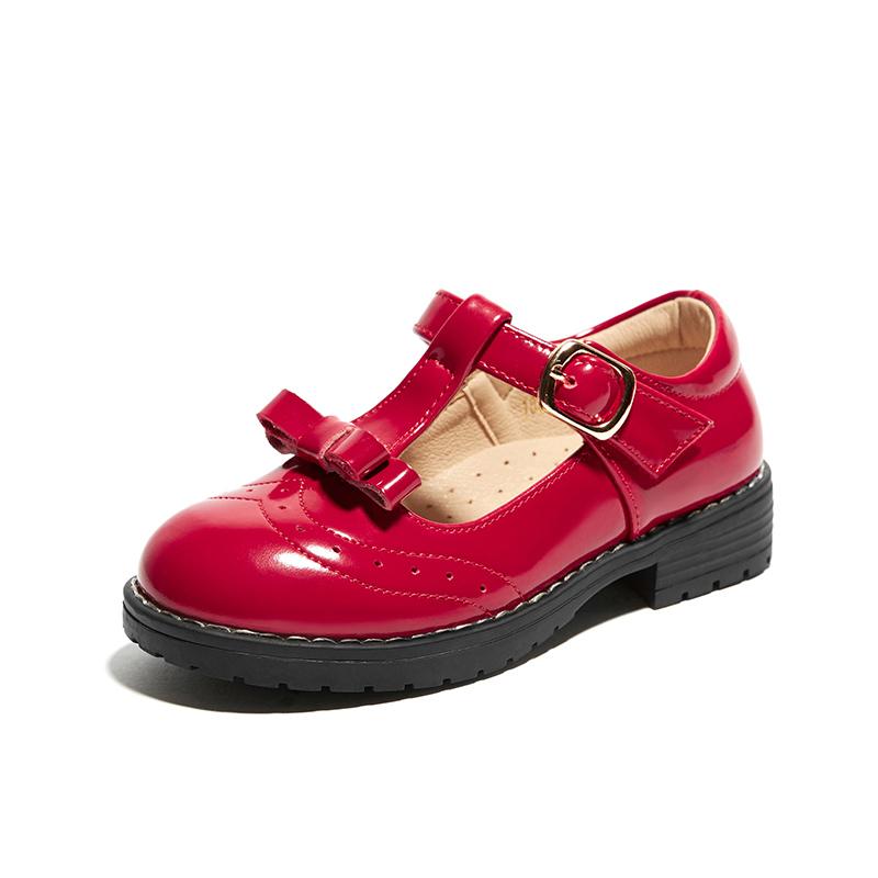 女童公主鞋真皮小皮鞋2019新款春秋黑皮鞋子英伦风女宝宝儿童单鞋