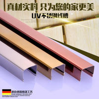 Tile moldings UV-type stainless steel edge strips closing strips edge banding strips metal buckle edge strips