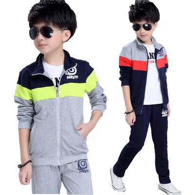 男孩7中大童8春秋季9运动服两件套10男童春装套装6小学生卫衣15岁