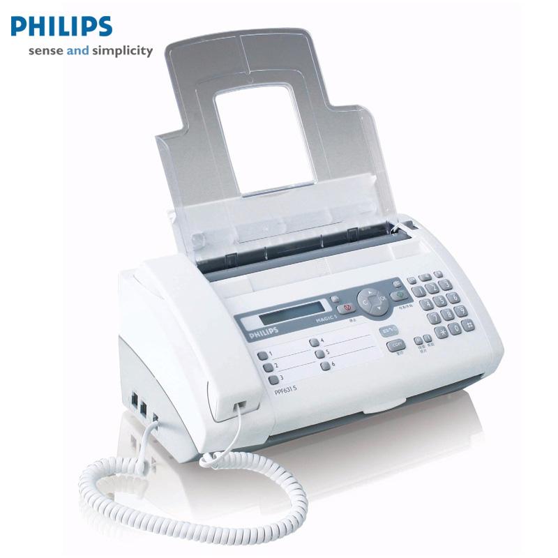 飞利浦 PPF 631S 普通纸传真机 电话机 中文显示可无纸接收 包邮