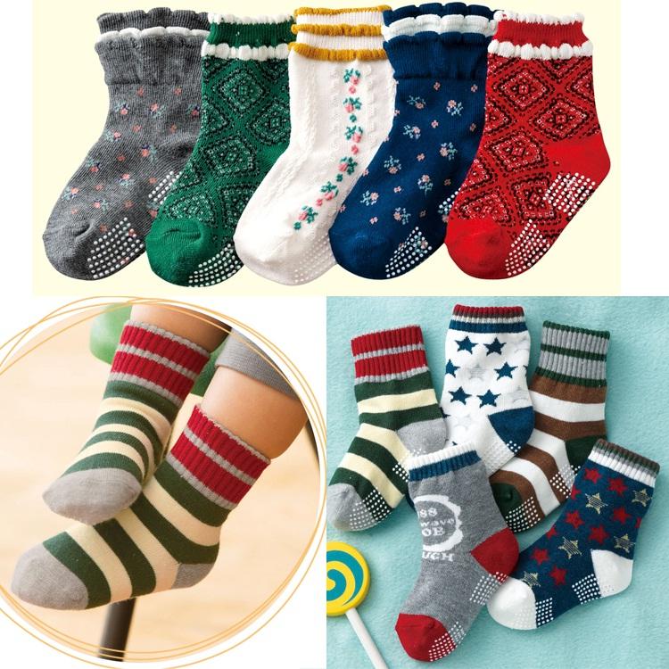 【断码清仓 】 日本进口Nissen 18四季穿儿童花边中筒袜 袜子 5双