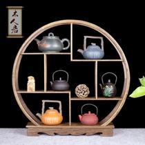 老船木新款艺术一对实木中式隔断客厅茶叶多宝阁茶架展示架玄关柜