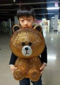 特大韩国创意巨无霸号可妮兔布朗熊存钱罐卡通超大号储蓄罐男生日